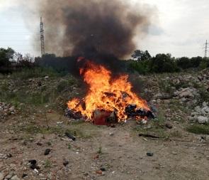В Воронеже сотрудники полиции сожгли 270 кг наркотиков