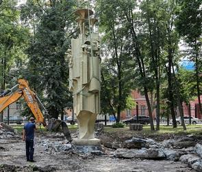 Фонтан «Чебурашка и крокодил Гена» могут перенести из «Орленка» в парк Дурова
