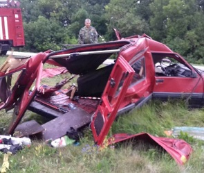 В ДТП под Воронежем погибла семья с 2-летним ребенком