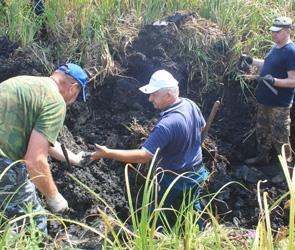 Под Воронежем нашли детали самолета и останки летчиков, сбитых во время войны