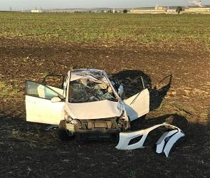 16-летний водитель Hyundai перевернулся под Воронежем: пострадали трое