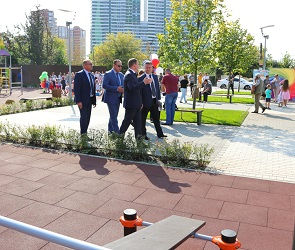 В Воронеже появился новый современный сквер