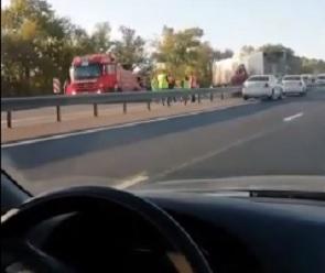 Под Воронежем в ДТП попали два грузовика и машина дорожных служб