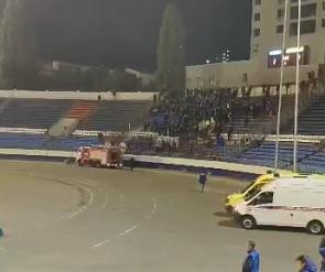 В Воронеже на матче «Факел» - «Арсенал» фанатов облили ледяной водой