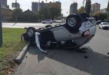 В массовой аварии в Воронеже столкнулись четыре автомобиля