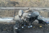 На воронежской трассе перевернулась иномарка: три человека госпитализированы