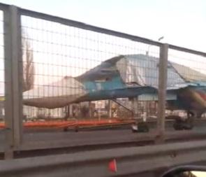 Су-34 на трассе под Воронежем снова сняли на видео