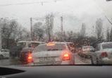 Внезапная пробка в Воронеже разозлила водителей