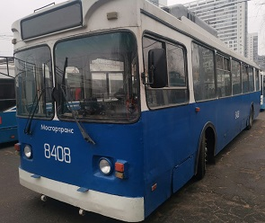 Воронежцам показали старые троллейбусы, которые привезут из Москвы
