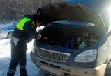 В Воронежской области водитель два часа прождал помощи на заснеженной трассе