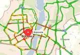 Вечером пятницы Воронеж сковали 9-балльные пробки