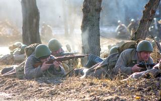 Реконструкция освобождения Воронежа