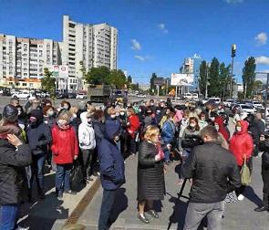 В Воронеже прошло «восстание предпринимателей» с рынка «Придача»