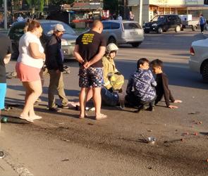 В Воронеже нашли водителя иномарки, который сбил двух пешеходов и скрылся