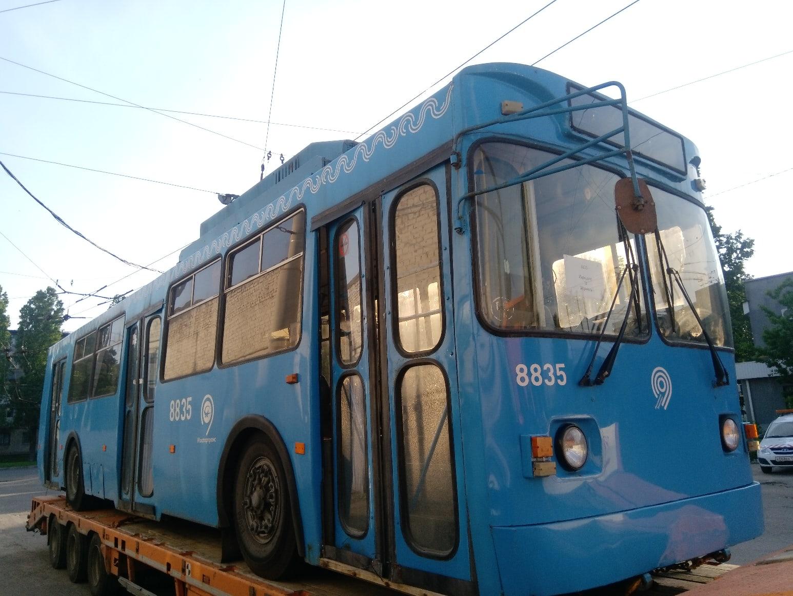 В Воронеж привезли вторую партию троллейбусов из Москвы