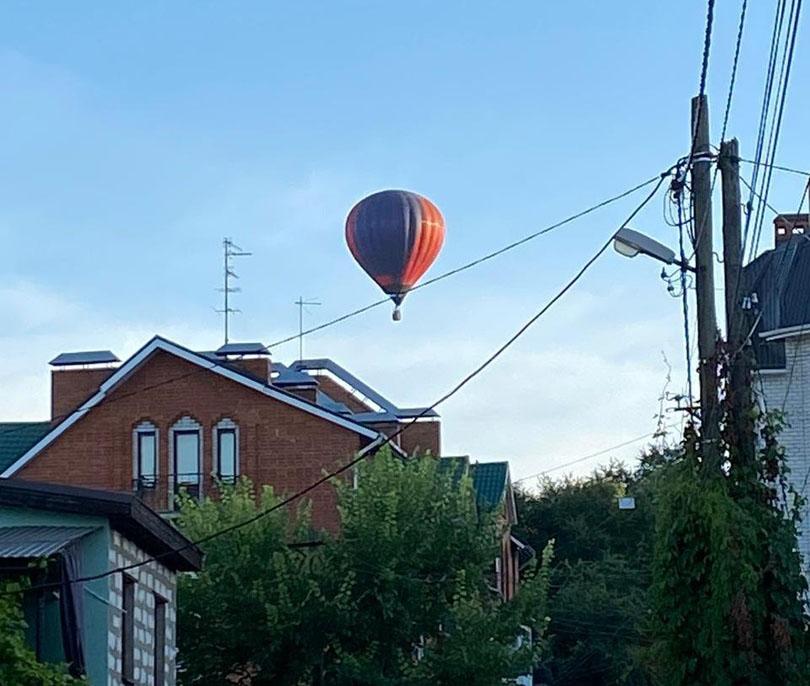 В небе над Воронежем были замечены воздушные шары
