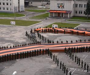 Акцию с 300-метровой георгиевской лентой в Воронеже перенесли