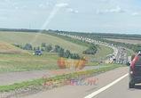 Огромная пробка ждет автомобилистов на выезде из Воронежской области