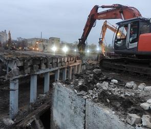 В Воронеже демонтировали все пролеты путепровода у «Работницы»