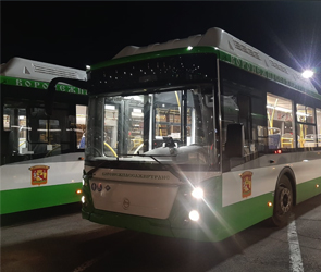 В Воронеж прибыли еще 29 новых низкопольных автобусов