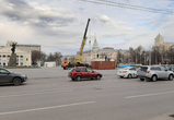 На центральной площади Воронежа начали устанавливать «Снежную королеву»