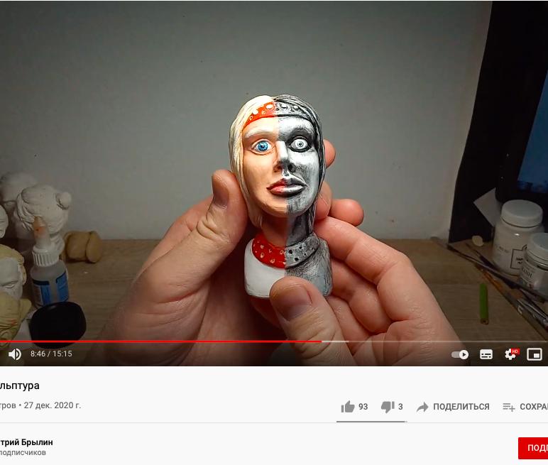 Художник из Москвы сделал маленькую копию новоронежской «Аленки»