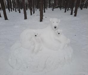 Сутки на морозе: кто делает потрясающие снежные скульптуры в парке «Дельфин»