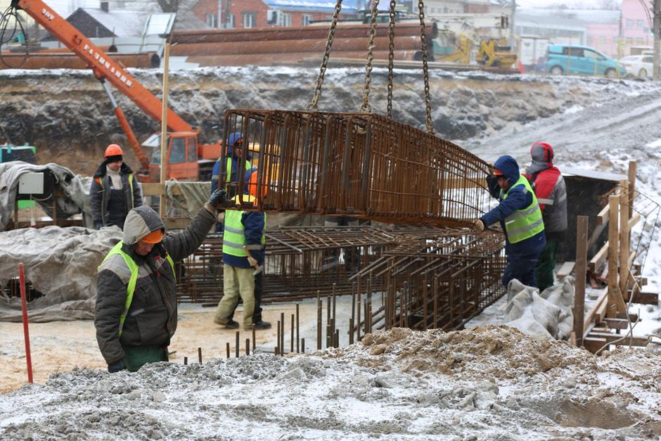 В Воронеже собираются начать монтаж балок на виадуке у «Работницы»