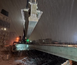 На улице Ленина в Воронеже завершился монтаж балок нового виадука