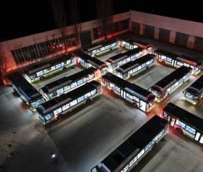 Последняя партия из 28 новых автобусов прибыла в Воронеж