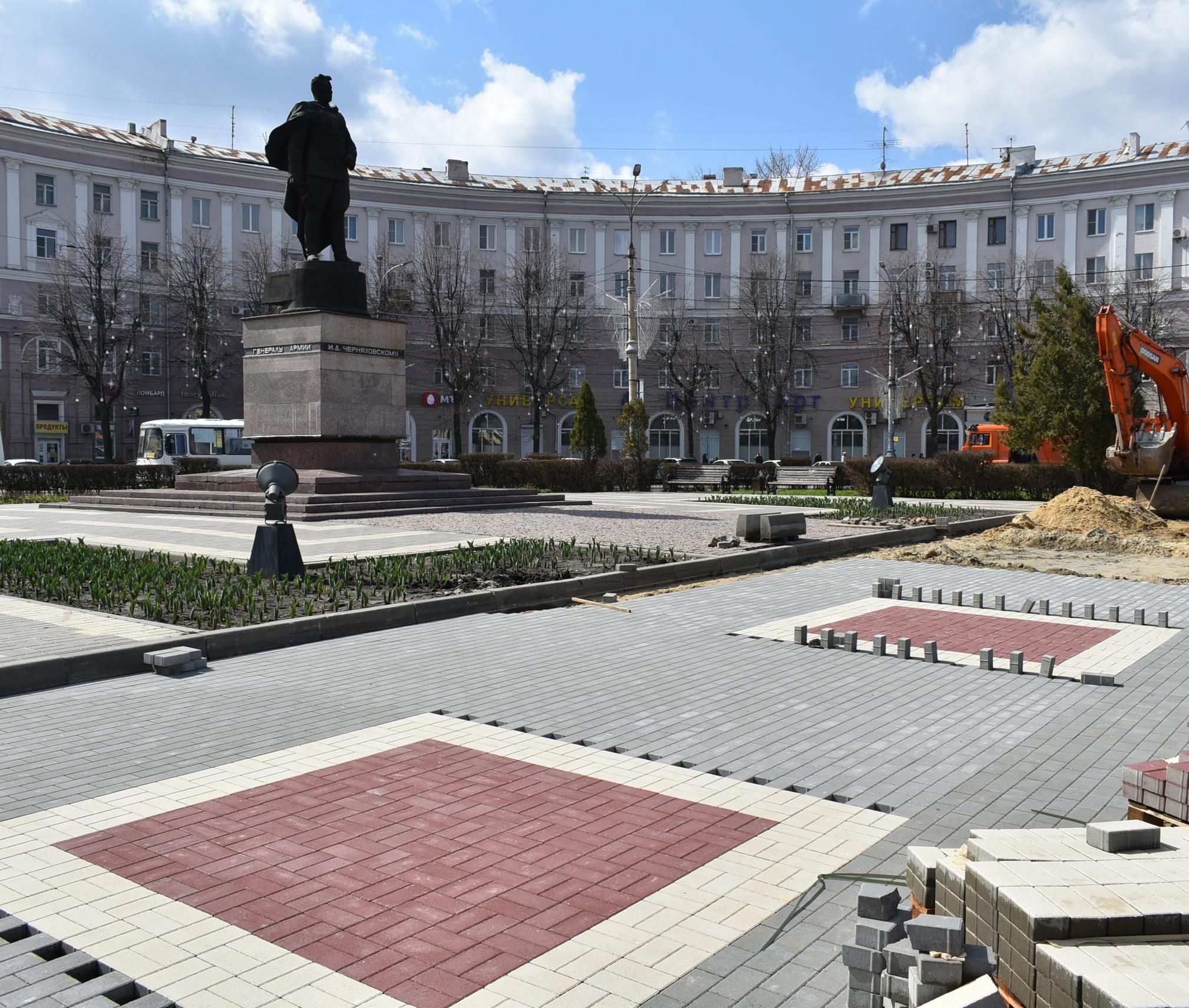 В Воронеже реконструируют площадь Генерала Черняховского