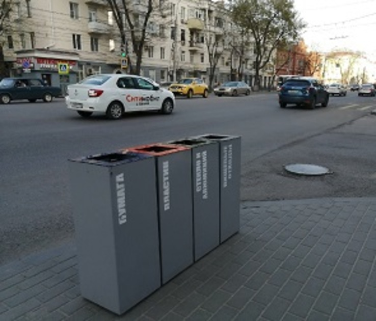 На Плехановской после ремонта установят новые урны для раздельного сбора мусора