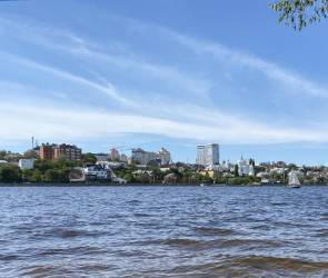 В Воронеже заработал первый троллей через водохранилище