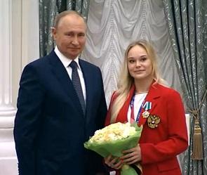 Владимир Путин вручил воронежской гимнастке Ангелине Мельниковой орден Дружбы