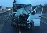 На воронежской трассе автобус врезался в два грузовика: пострадали 12 человек