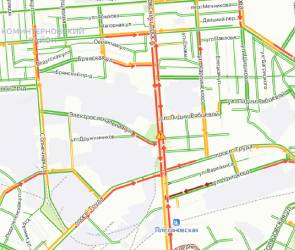 Воронежцы пожаловались на пробки в центре из-за нескольких аварий
