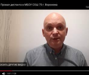 «Учитель года» назвал дистанционку для школьников в Воронеже полным провалом