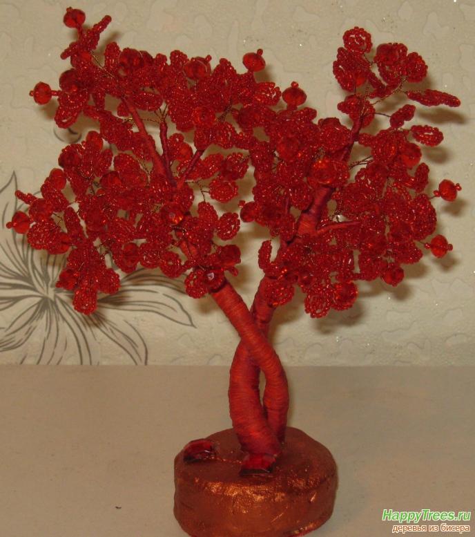 дерево свадебное из бисера.
